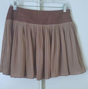 NWT Very J Pleated Flowy Skirt Faux Leather Waist